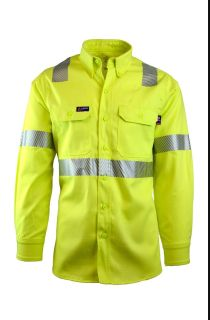 FR Uniform Shirts | Hi-Viz Class 2 | 7oz. 100% Cotton-