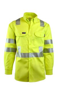 FR Uniform Shirts | Hi-Viz Class 3 | 7oz. 100% Cotton-