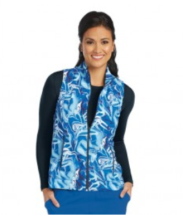 2pkt Shirred Printed Zip Vest-Barco One