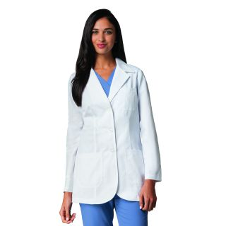 "Missy 32"" 3 Patch Pocket Lab Coat W/ Princess Seams"
