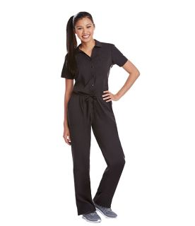 2 Pocket S/S Drawstring Jumpsuit