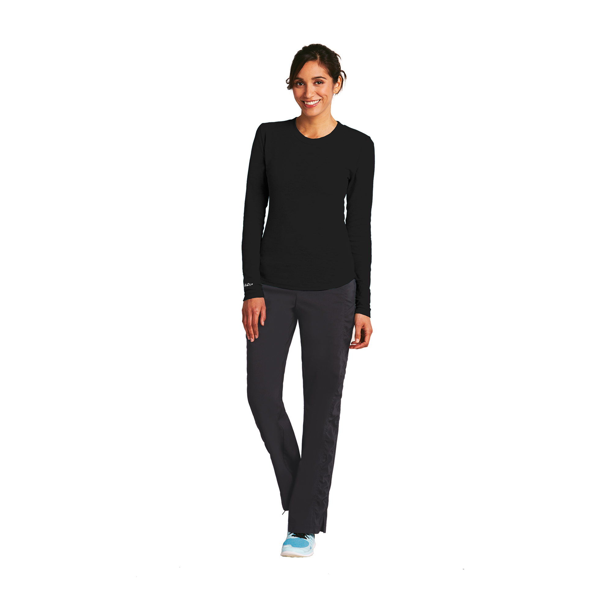 Long Sleeve Bk Pieced Burnout Thermal