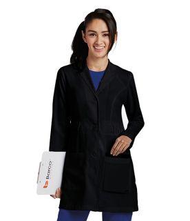 4pkt Shirred Waist Lab Jacket