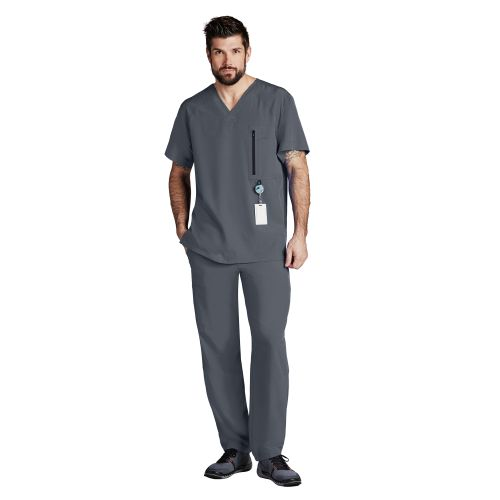 Barco One Men's Zip Pocket Scrub Top-Barco One