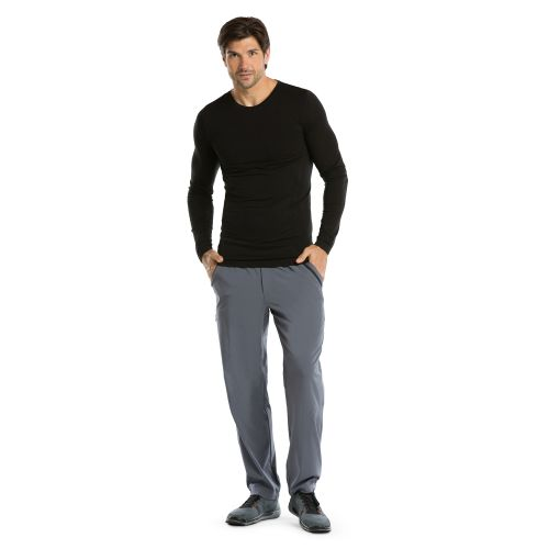 Long Sleeve Male Knitted Seamless Tee-