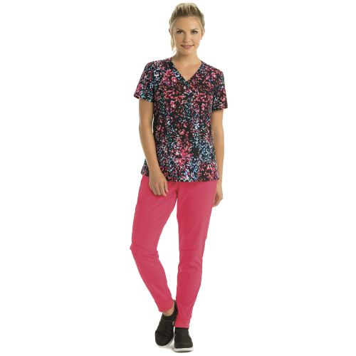 Barco One Women's Princess Print Scrub Top-Barco One