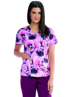Barco One V Neck Print Top-Barco One