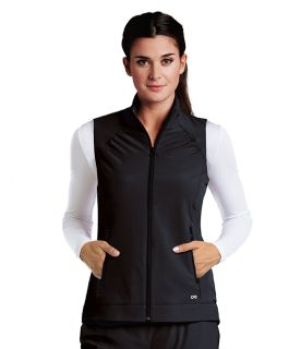 2pkt Shirred Princess Zip Vest