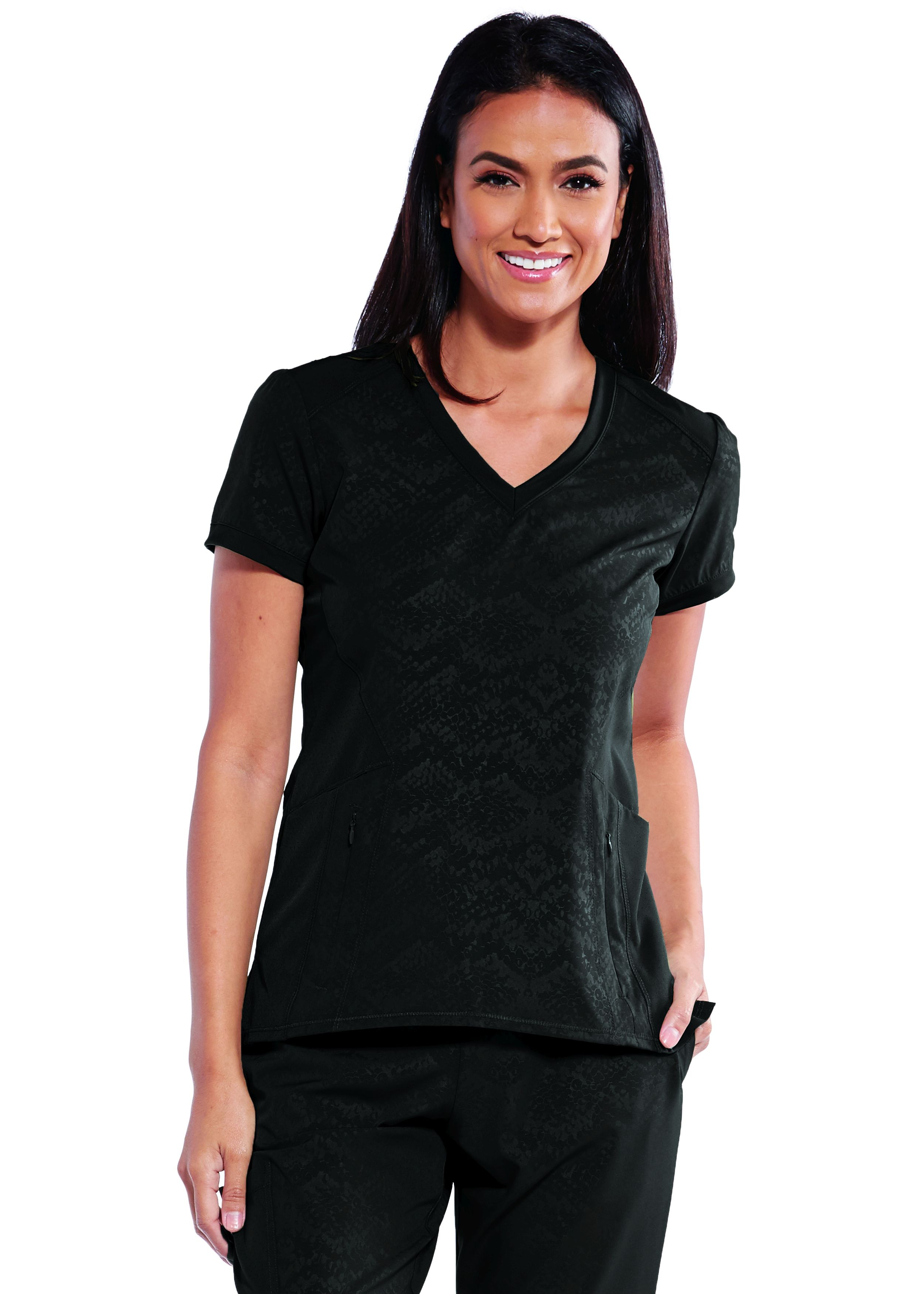 Barco One Wellness 4 Pocket V-Neck Zipper Pockets Perfect Top-Barco One