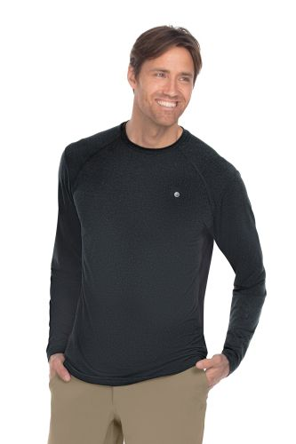 Crwnk Long Sleeve Melange Rglnknit Top-Barco Wellness
