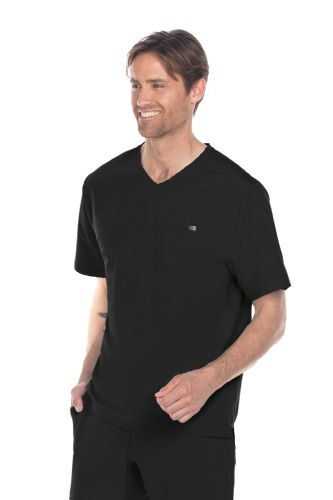Barco One Wellness Men's Velcro Pocket Scrub Top- BWT010-Barco Wellness