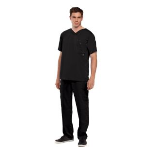 Mens 3 Pocket High Open V-Neck