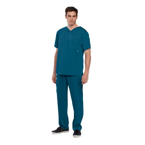 Grey's Men's 3 Pocket High Open V-Neck - 0107-Greys Anatomy
