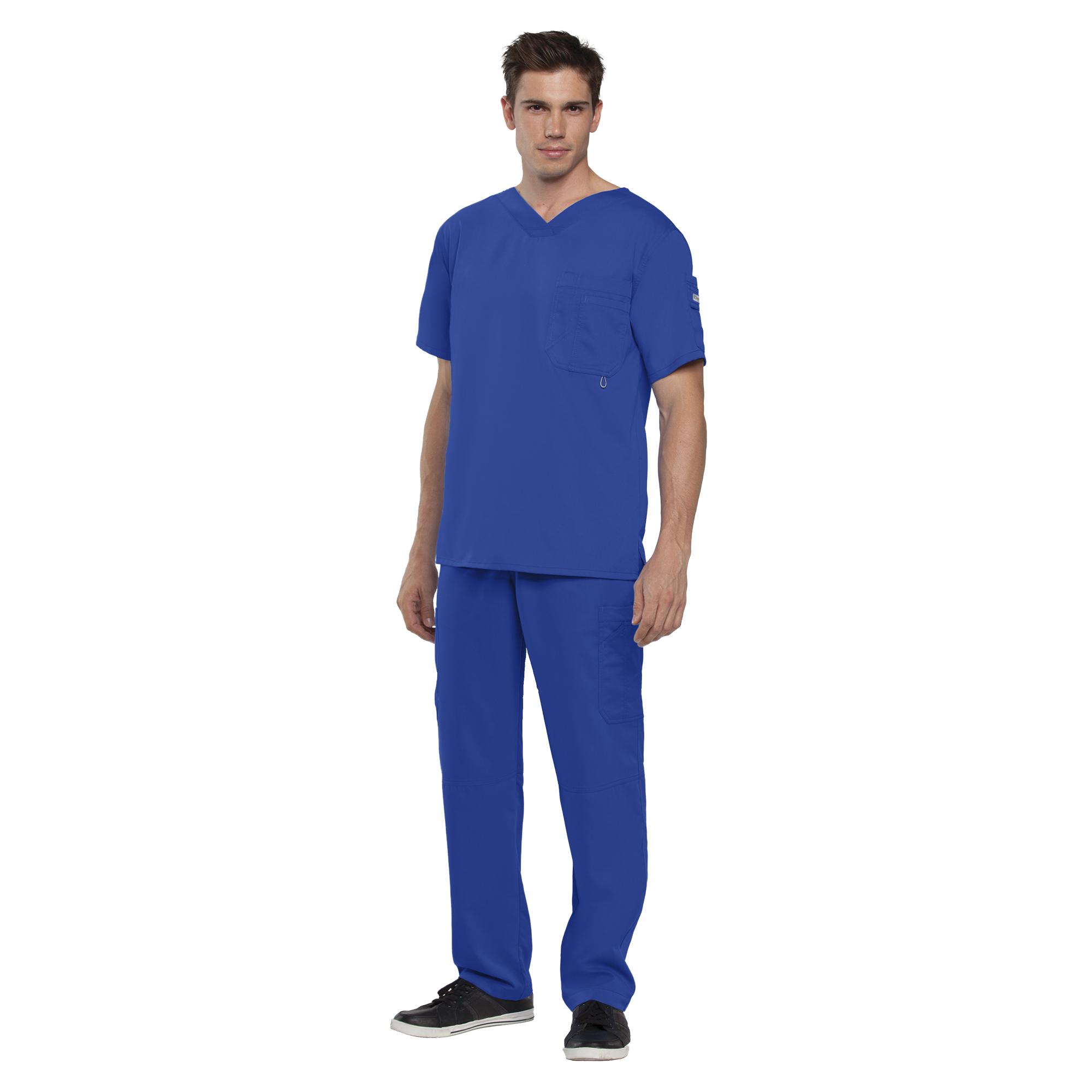 Grey's Anatomy Men's 3 Pocket V-Neck Chest Pocket Top-Greys Anatomy