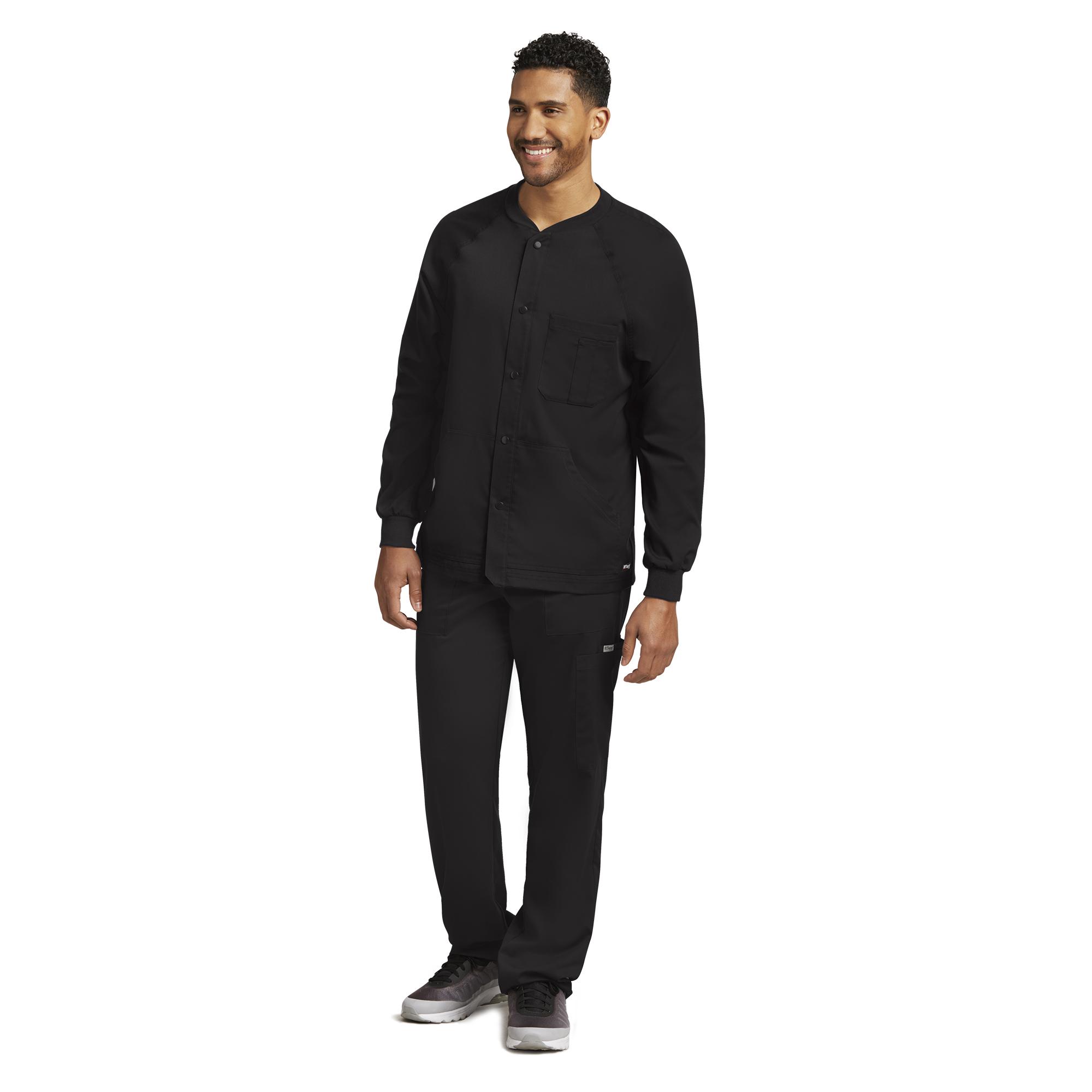 Grey\'s Anatomy Men\'s Five Pocket Raglan Warm-Up Scrub Jacket