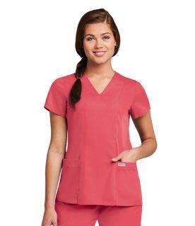 41101 Ladies Junior 2 Pocket Mock Wrap Top by Grey's Anatomy
