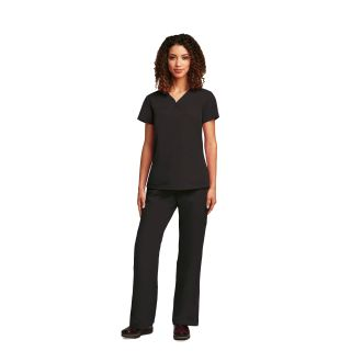 Grey's 3 Pocket V-Neck Yoke with Side Panels Women's Top by Barco