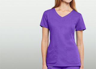3 Pocket Rnd V-Neck Fitted Yoke-Greys Anatomy