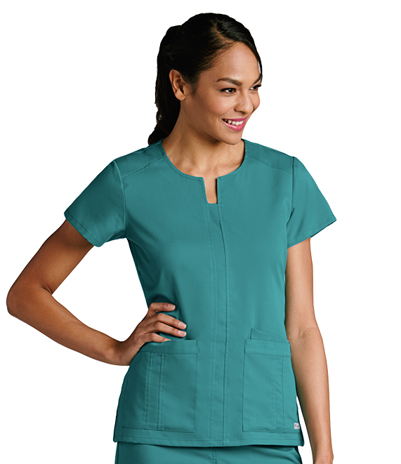 Grey's Anatomy 3 Pocket Notched Scrub Top