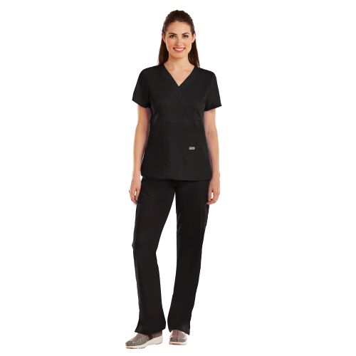 Grey's Anatomy Medical Tops 3 Pocket Mock Wrap-Grey's Anatomy