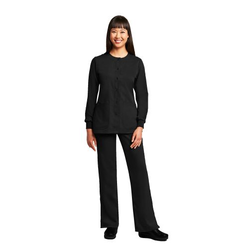4 Pocket Rnd Neck Cuffed Warm Up-