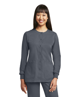 4450 Ladies 4 Pocket Round Neck Cuffed Warm Up by Grey's Anatomy