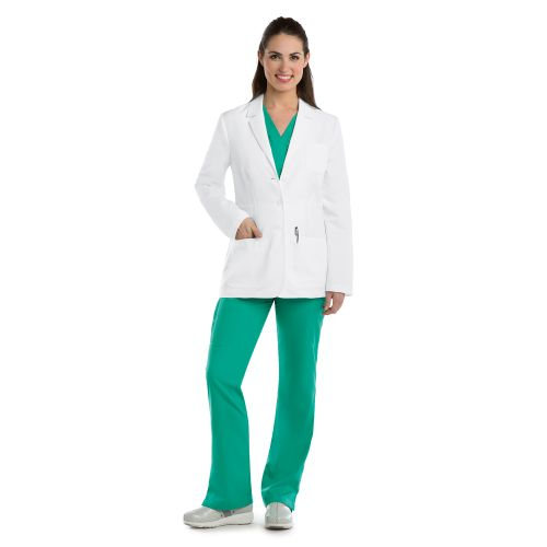 "5 Pocket 28"" Waist Seam Labcoat-"