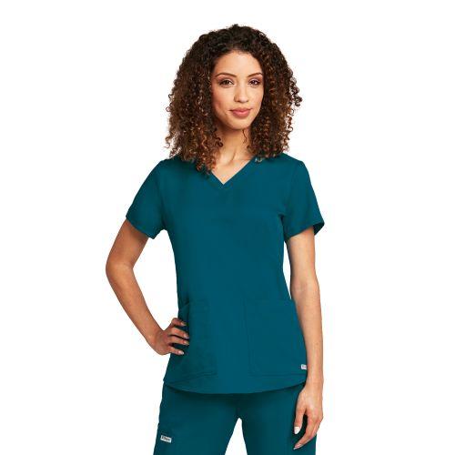 Grey's 2 Pocket V-Neck Top-Greys Anatomy