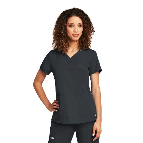 My Grey's 2 Pocket V-Neck Top - 71166-Grey's Anatomy