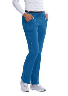 Grey's 6 Pocket Elastic Cargo Pant-Greys Anatomy