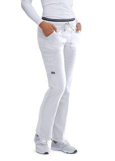 6pkt Bk Emb Elastic Cargo Pant-Greys Anatomy