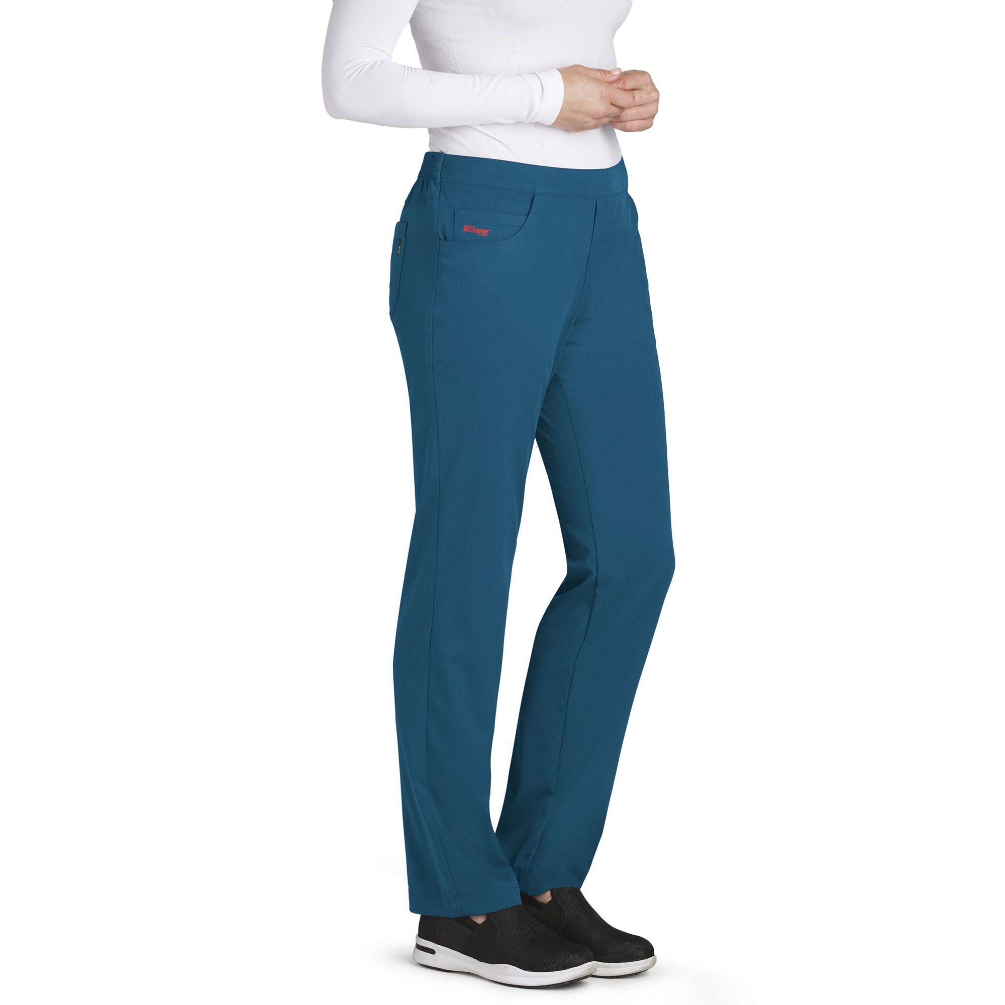 Grey's Stretch 5 Pocket Flat Front Scrub Pant-Grey's Anatomy
