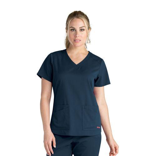 Grey's 4 Pocket Stretch V Neck Scrub To - GRST011-Greys Anatomy