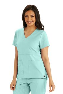 Grey's 3 Pocket Empire Back Button Top-Greys Anatomy