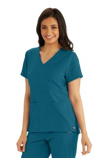 3pkt Empire Back Button Top-Greys Anatomy