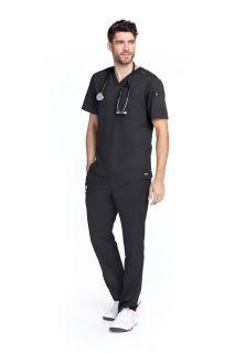 Z - Grey's Men's 2 Pocket Lapover V-Neck Top-Greys Anatomy