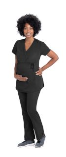 2pkt Mock Wrap Maternity Top-Greys Anatomy