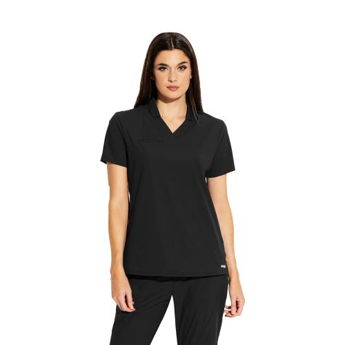 3pkt Hi Low Collar Polo-Greys Anatomy Edge