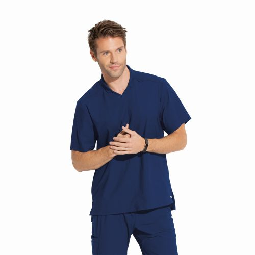 EDGE - NEW Men's Polo Style Scrub Top-Greys Anatomy Edge