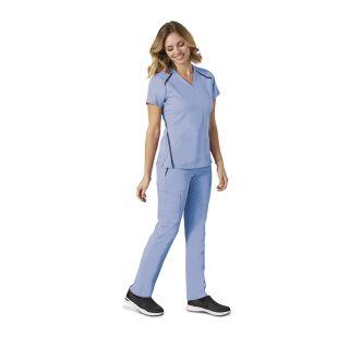 7188 Ladies 3 Pocket Cross Over Top by Grey's Anatomy Impact - Elevate