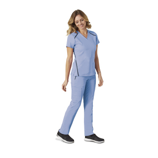 7188 Ladies 3 Pocket Cross Over Top by Grey's Anatomy Impact - Elevate