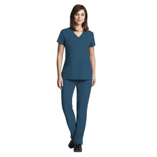Grey's Signature 3 Pocket Lapover V-Neck by Barco