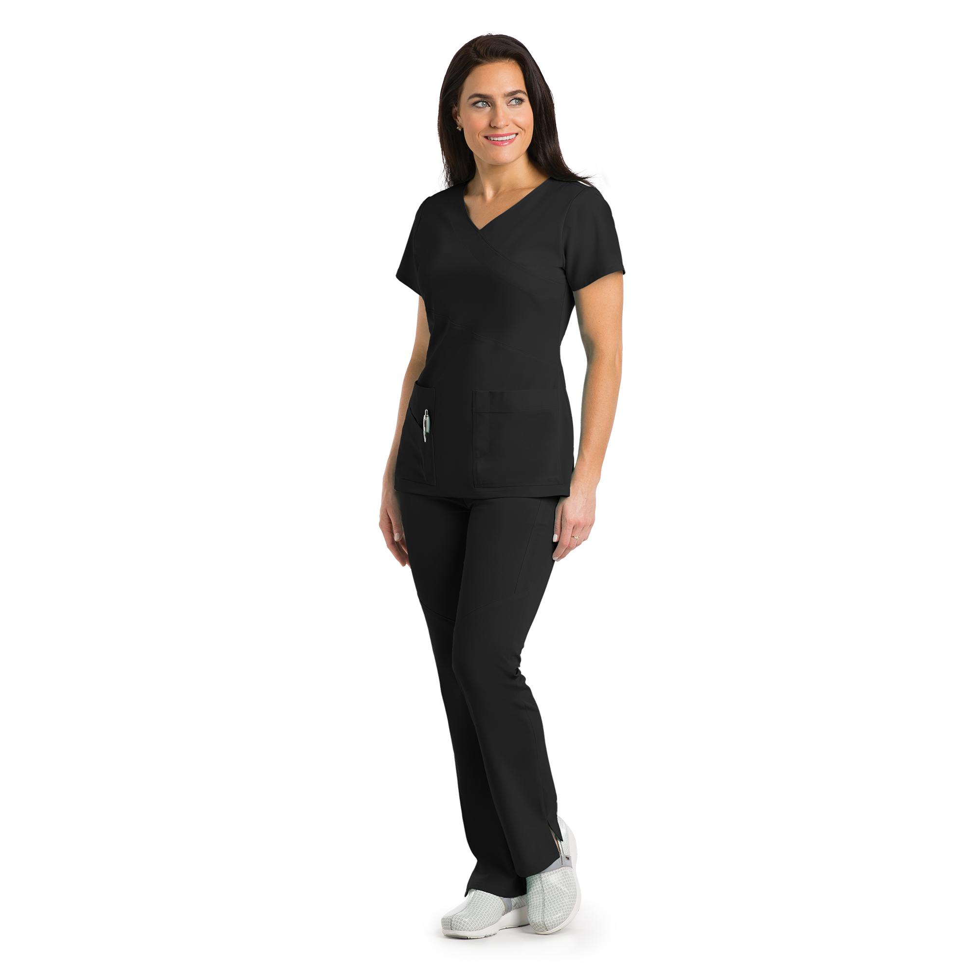 Buy 3 Pocket Mock Wrap With Pda Pkt - Greys Anatomy Signature Online ...