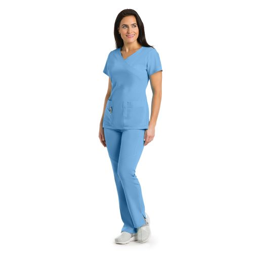 2130 Ladies 3 Pocket Mock Wrap  by Grey's Signature-Greys Anatomy Signature