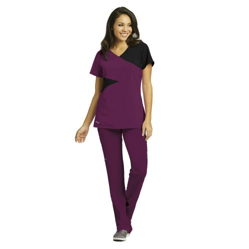 Grey's Anatomy Signature Color Block Top for Women 2140-Greys Anatomy Signature