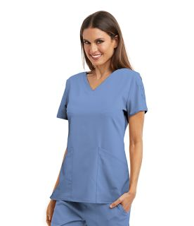 Grey's Anatomy Signature Women's Lace Sleeve Scrub Top-GNT019-Greys Anatomy Signature