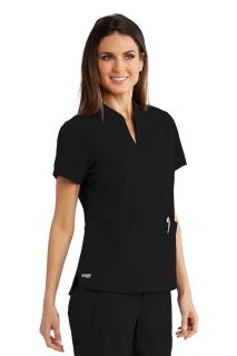 3 pocket Split Neck Shirt-Greys Anatomy Signature