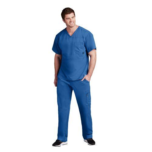 Grey's Anatomy Active Men's Panel Scrub Top-Greys Anatomy Active