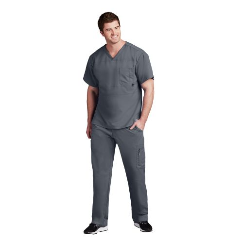 2pkt Panel Pieced V-Neck-Greys Anatomy Active