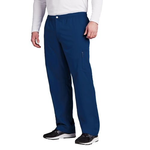 Grey's Anatomy Active Men's Zip Fly Cargo Scrub Pants-0215-Greys Anatomy Active